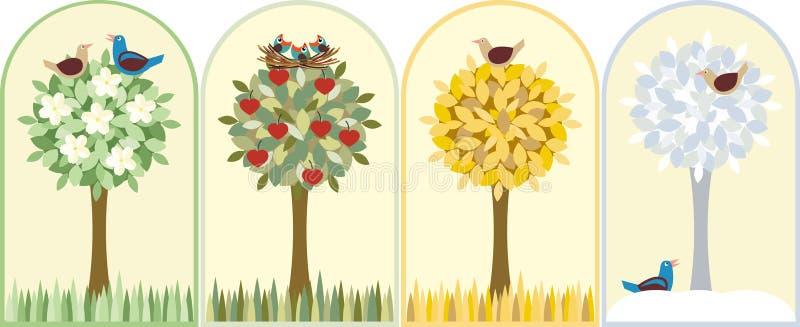 Estações ilustração royalty free
