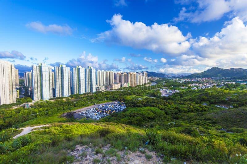 Estañe el districto de Shui Wai en Hong-Kong en el día imagen de archivo libre de regalías