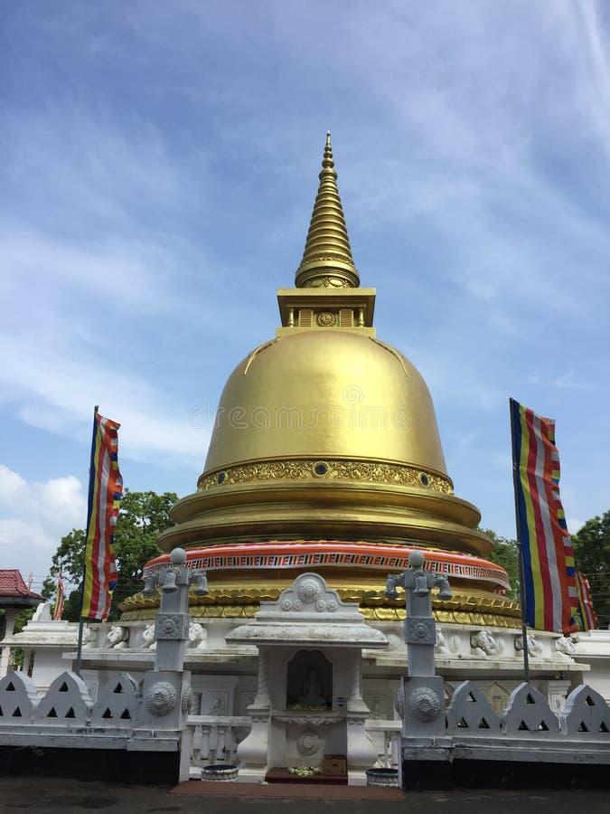 Esta é imagem do viharaya do kelani de Sri Lanka imagem de stock