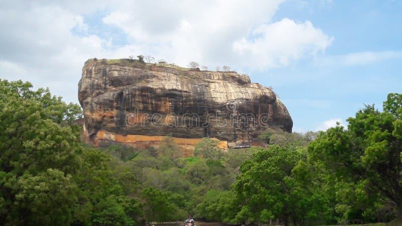 Esta é a rocha do sigiriya em Sri Lanka imagem de stock
