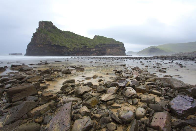 Esta é uma formação de rocha natural imagem de stock
