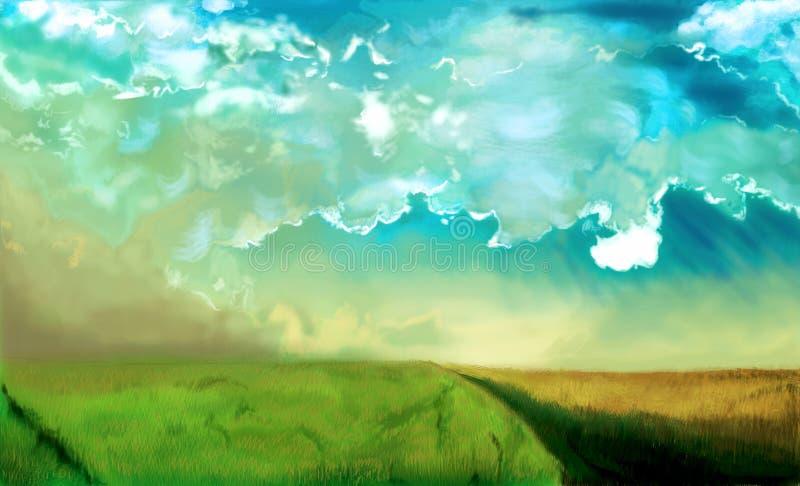 Esta é uma paisagem ensolarada fotografia de stock royalty free