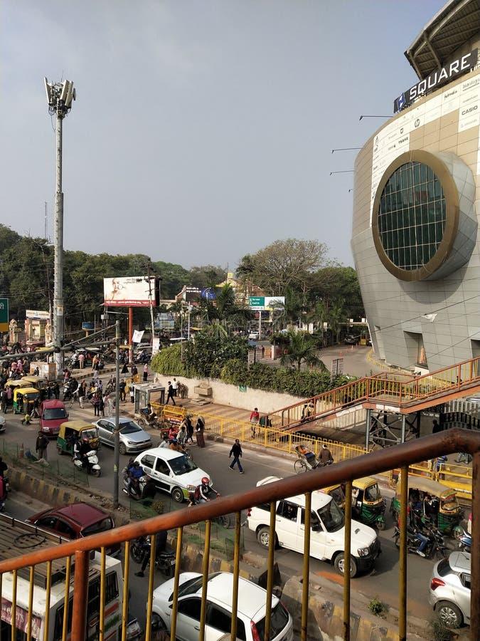 Esta é uma praça Z de Kanpur, na Índia imagens de stock
