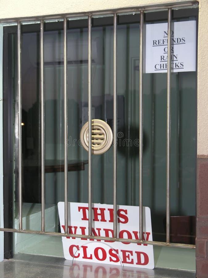 Esta muestra cerrada de la ventana foto de archivo libre de regalías