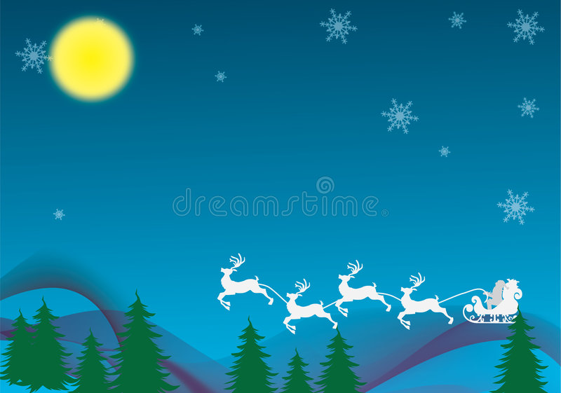 Esta noite de Natal ilustração do vetor