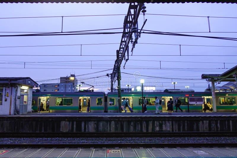 Esta??o de trem em Osaka, Jap?o imagens de stock