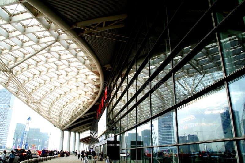 Esta??o de trem sul de Guangzhou Esta??o de trem sul de Guangzhou imagens de stock
