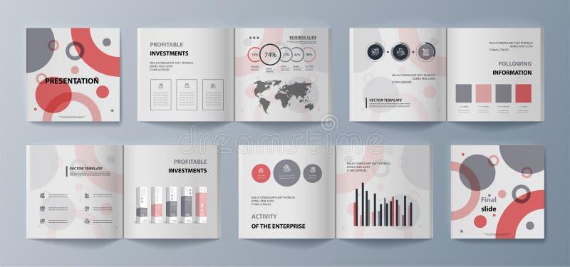 Esta plantilla es el mejor como presentación del negocio, usada en el márketing y publicidad, aviador y bandera stock de ilustración