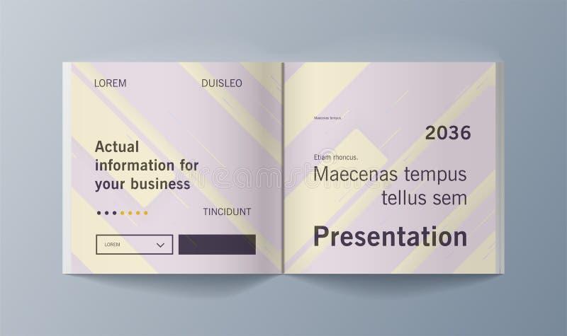 Esta plantilla es el mejor como presentación del negocio, usada en el márketing y publicidad, aviador y bandera libre illustration