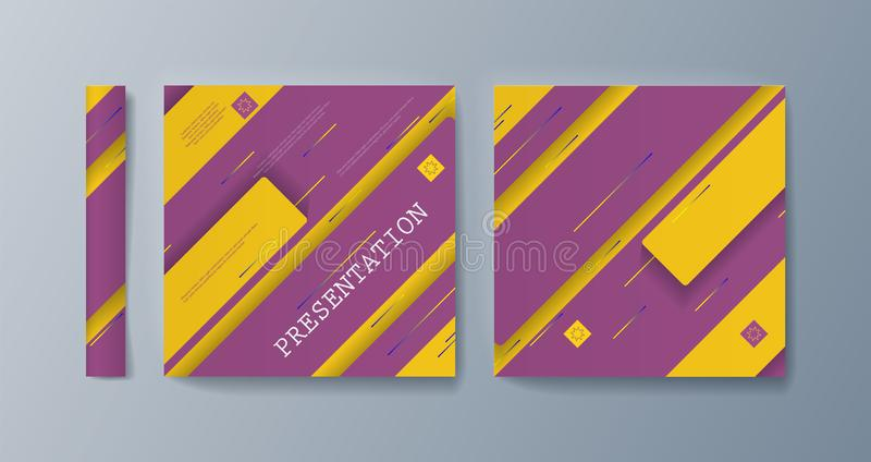 Esta plantilla es el mejor como presentación del negocio, usada en el márketing y publicidad, aviador y bandera ilustración del vector