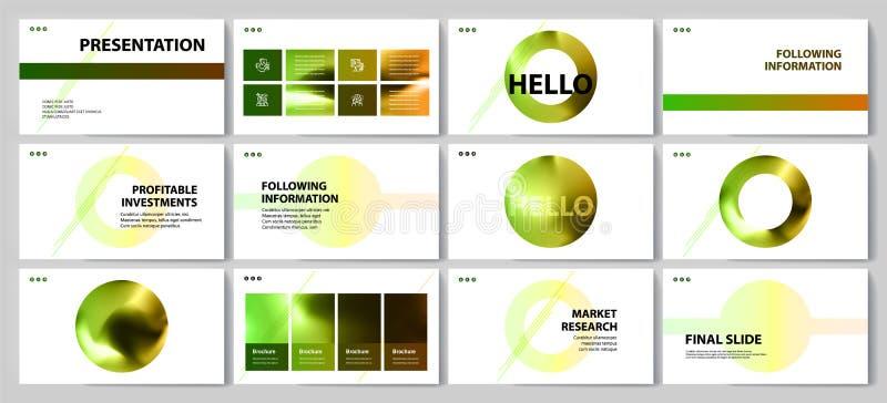 Esta plantilla es el mejor como presentaci?n del negocio, usada en el m?rketing y la publicidad stock de ilustración