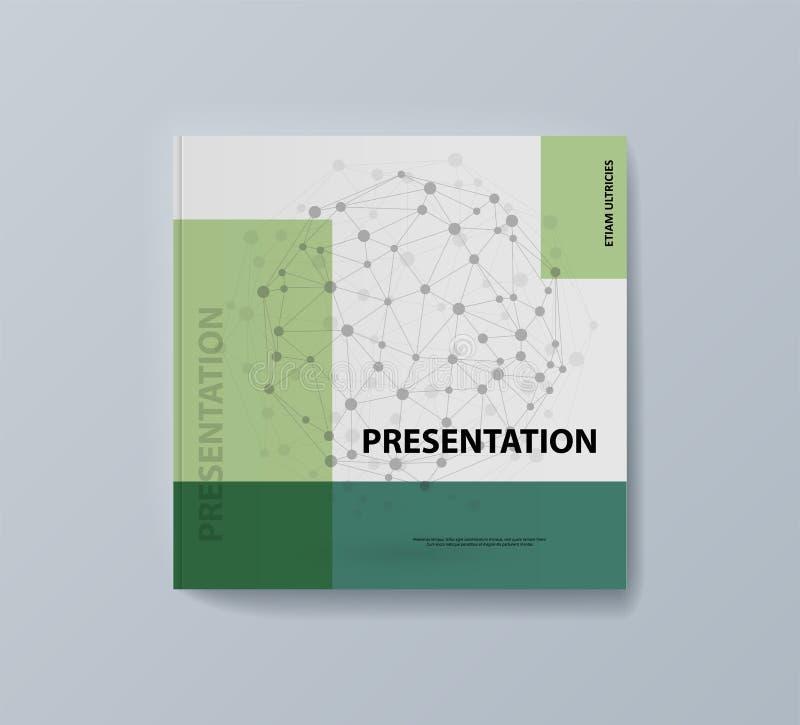 Esta plantilla es el mejor como presentaci?n del negocio, usada en el m?rketing y la publicidad ilustración del vector