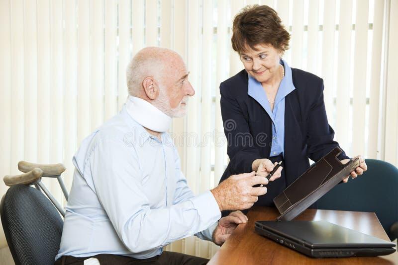 Estabelecimento de ferimento pessoal imagem de stock royalty free