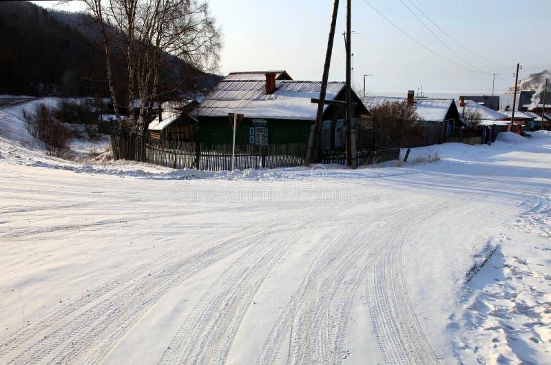 Estabelecimento de Listvianka, lago Baikal, Rússia. foto de stock royalty free