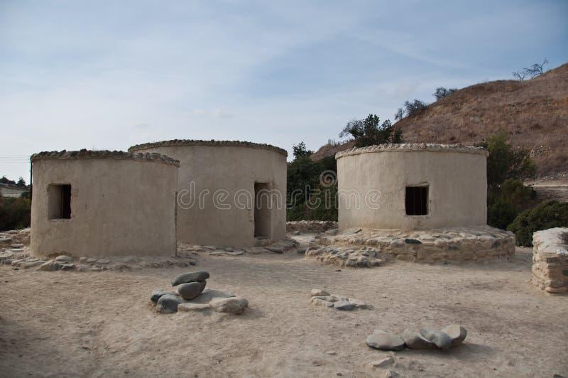 Estabelecimento Neolithic de Chirokitia em Chipre fotografia de stock