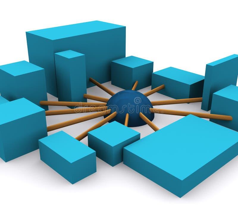 Establecimiento de una red 1 ilustración del vector