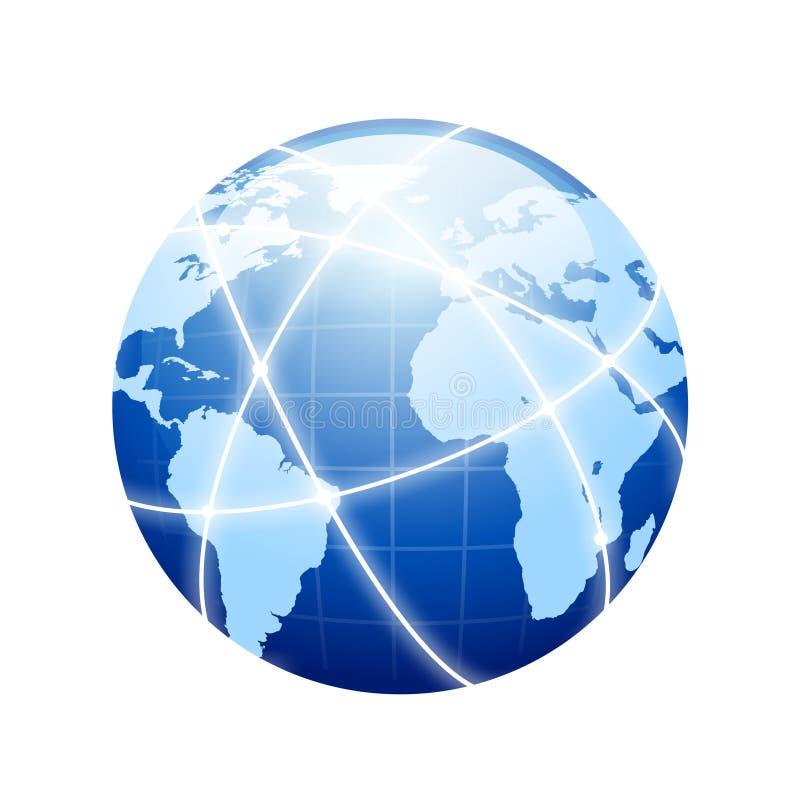 Establecimiento de una red de la tierra fotografía de archivo libre de regalías