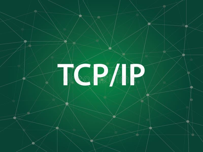 Establecimiento de una red del IP del Tcp - el protocolo IP del protocolo TCP es un sistema de protocolos de las reglas que gobie libre illustration
