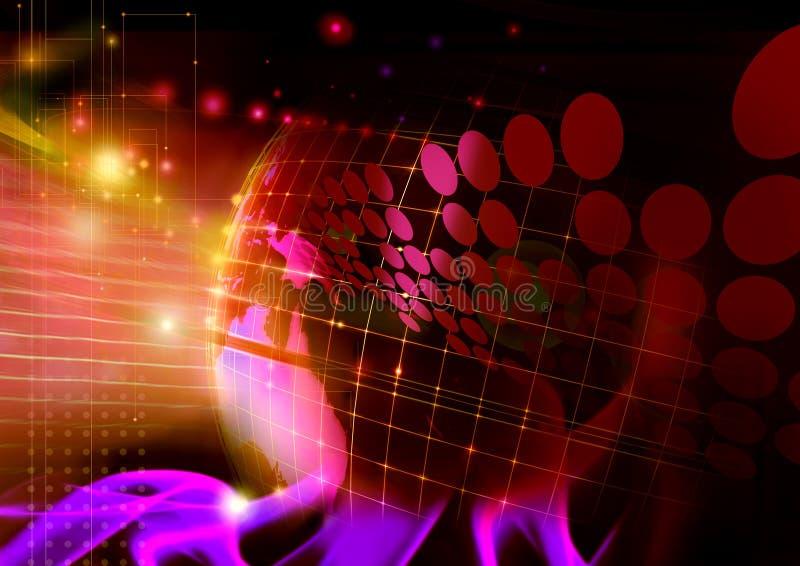 Establecimiento de una red del ordenador libre illustration
