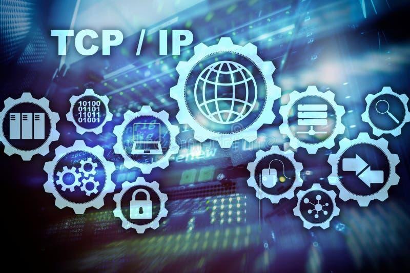 Establecimiento de una red del TCP/IP Protocolo TCP Concepto de la tecnolog?a de Internet fotos de archivo libres de regalías