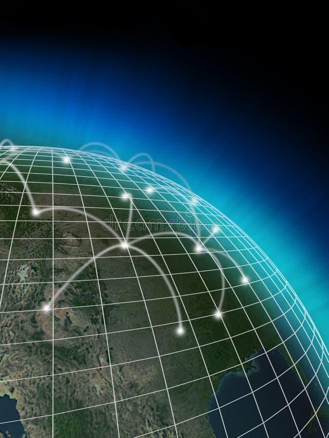 Establecimiento de una red global ilustración del vector