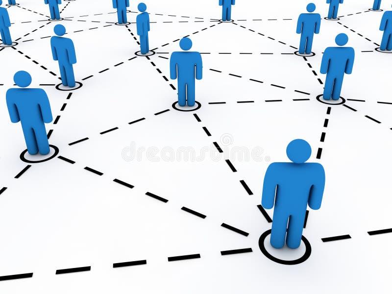 Establecimiento de una red social ilustración del vector
