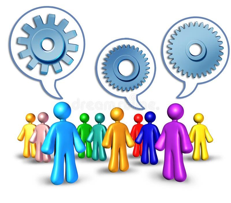 Establecimiento de una red social con remisiones ilustración del vector