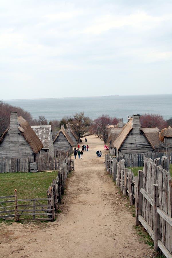 Establecimiento temprano de Nueva Inglaterra imagenes de archivo