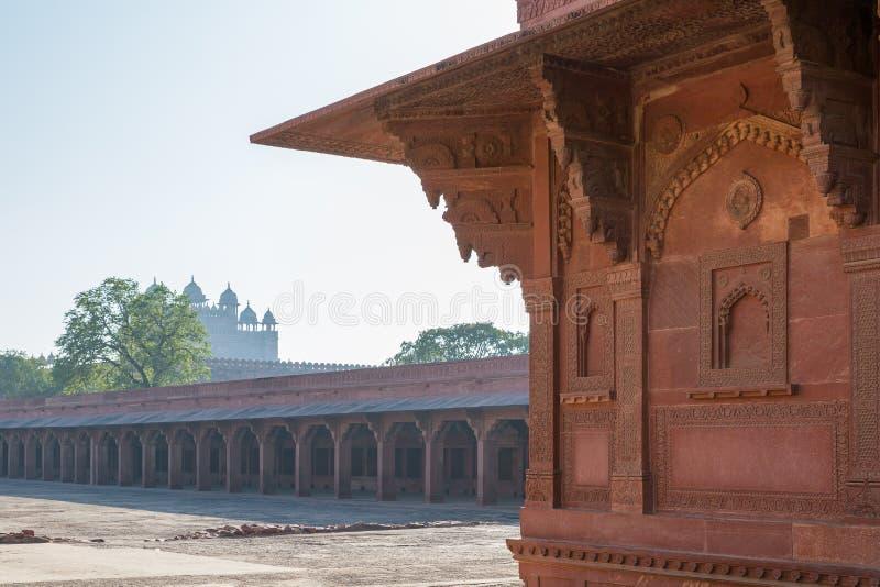 Establo del caballo del ` s de Akbar, Fatehpur Sikri, Uttar Pradesh, la India imágenes de archivo libres de regalías