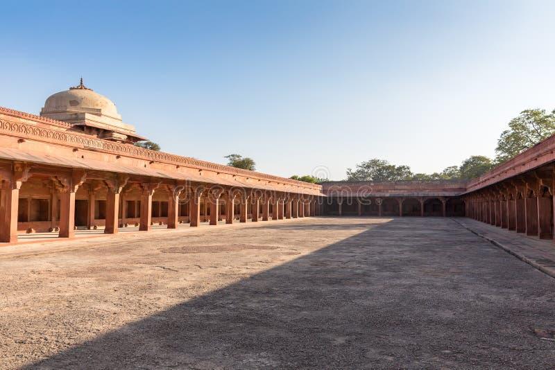 Establo del caballo del ` s de Akbar, Fatehpur Sikri, Uttar Pradesh, la India fotografía de archivo libre de regalías