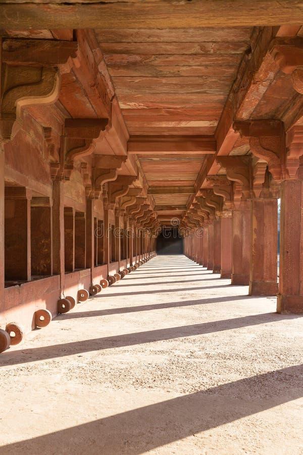 Establo del caballo del ` s de Akbar, Fatehpur Sikri, Uttar Pradesh, la India fotos de archivo libres de regalías