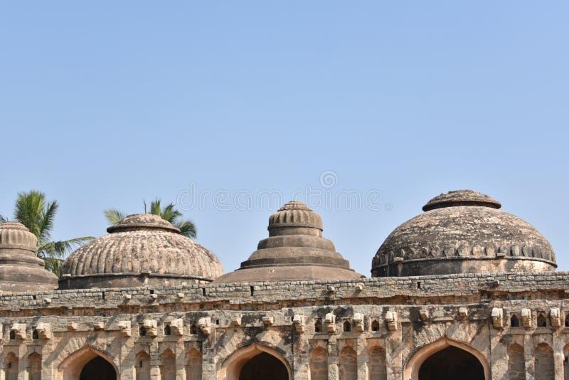 Establos del elefante, Hampi, Karnataka fotografía de archivo libre de regalías