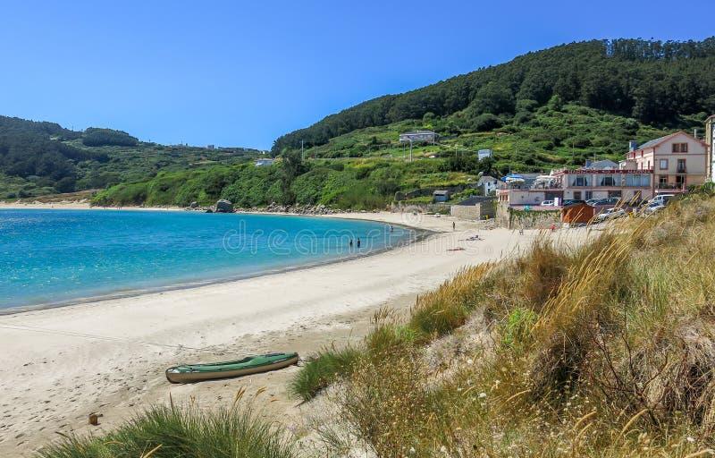 Estaca DE Bares, klein dorp in noordelijk Galicië, Spanje royalty-vrije stock afbeelding
