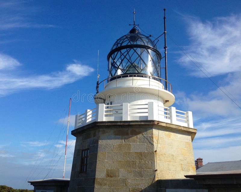 Estaca DE Bares Lighthouse in de Provincie van een Coruna, Galicië, Noordelijk Spanje royalty-vrije stock afbeeldingen