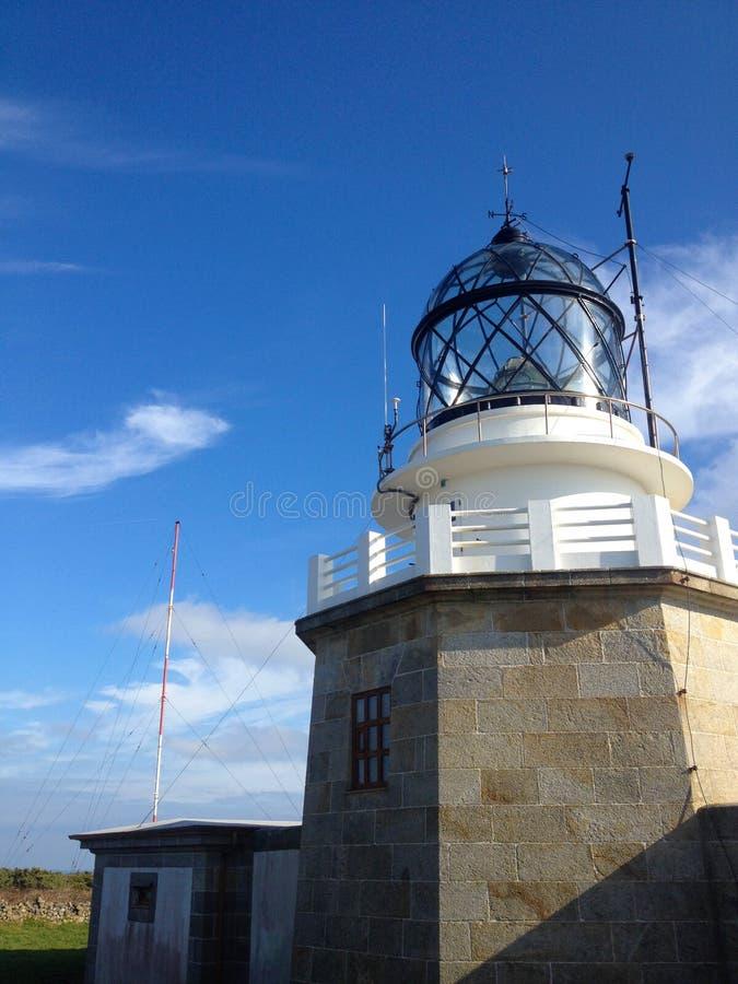 Estaca DE Bares Lighthouse in de Provincie van een Coruna, Galicië, Noordelijk Spanje stock foto