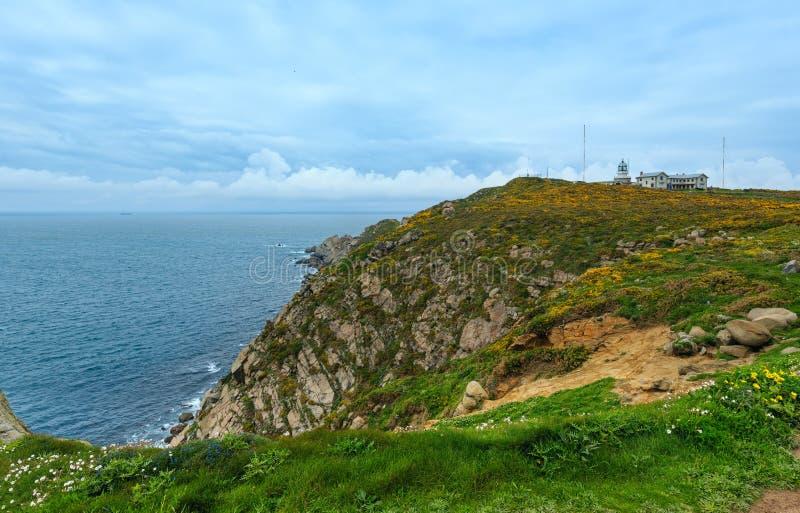 Estaca DE Bares Lighthouse Spanje royalty-vrije stock afbeelding