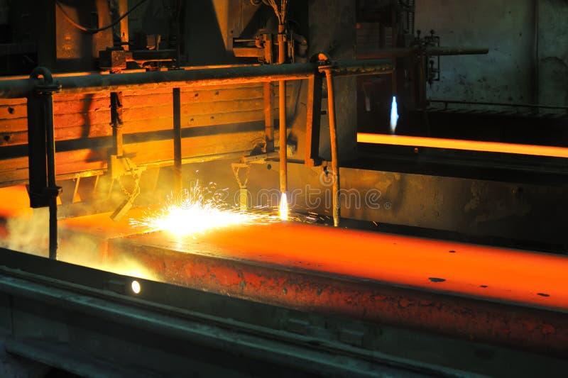 Estaca de gás do metal quente imagem de stock