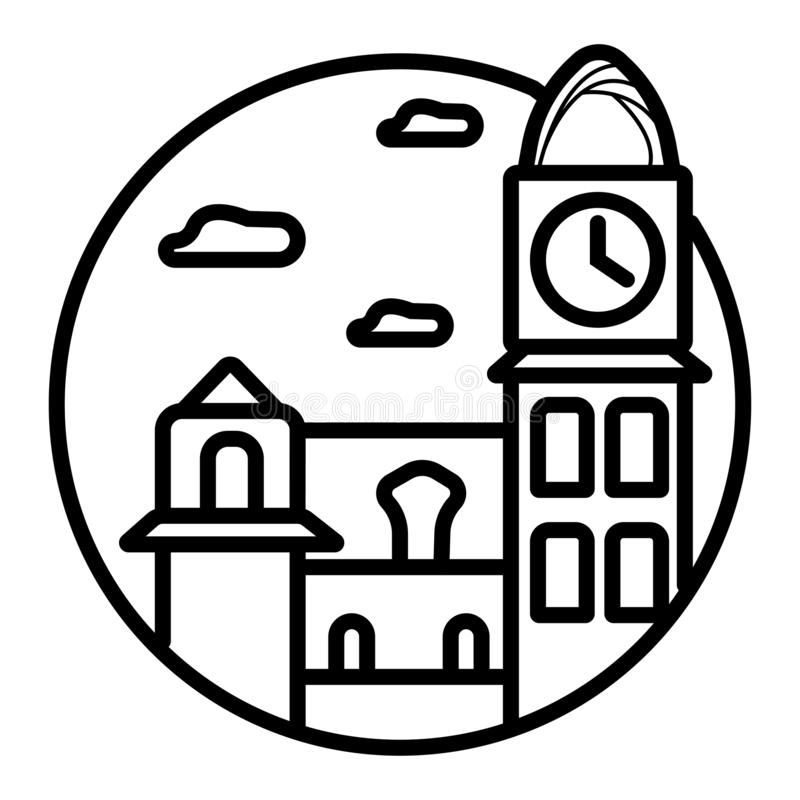 Estacao da luzu budynek, Sao Paulo ilustracji
