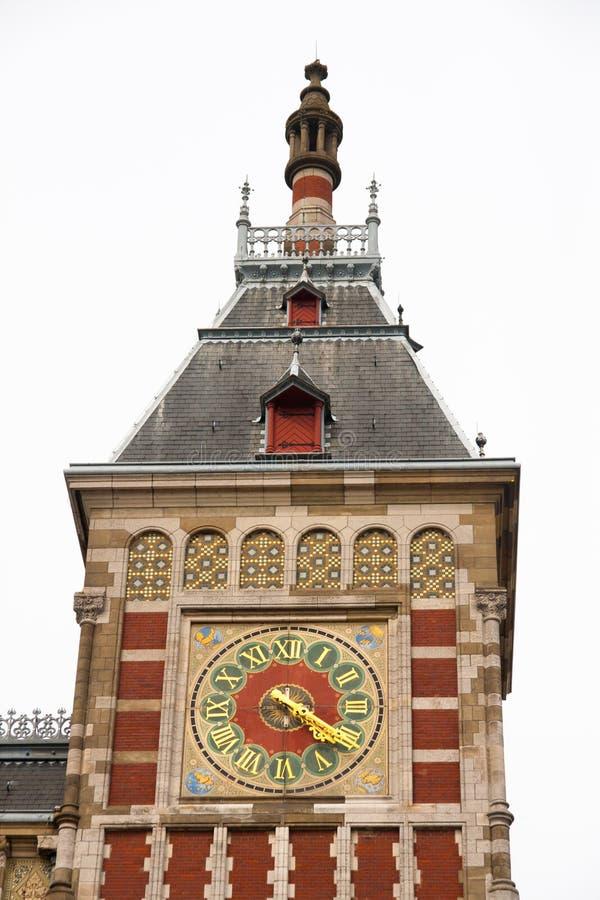 Estación central de Amsterdam, Amsterdam foto de archivo