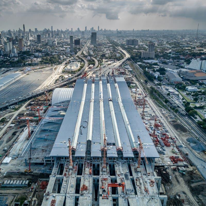 Estación central de Sue de la explosión, eje ferroviario de Bangkok imagen de archivo