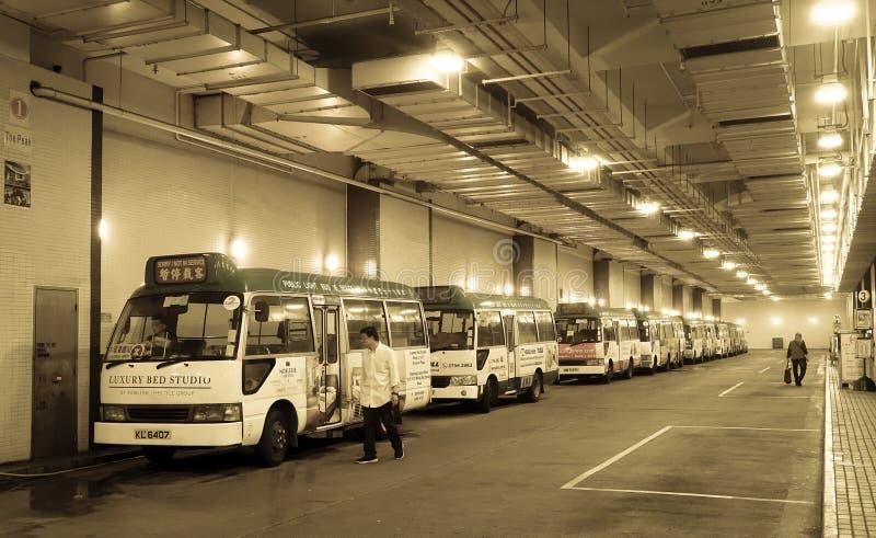 Estación de autobúses subterráneo en Hong Kong fotografía de archivo libre de regalías