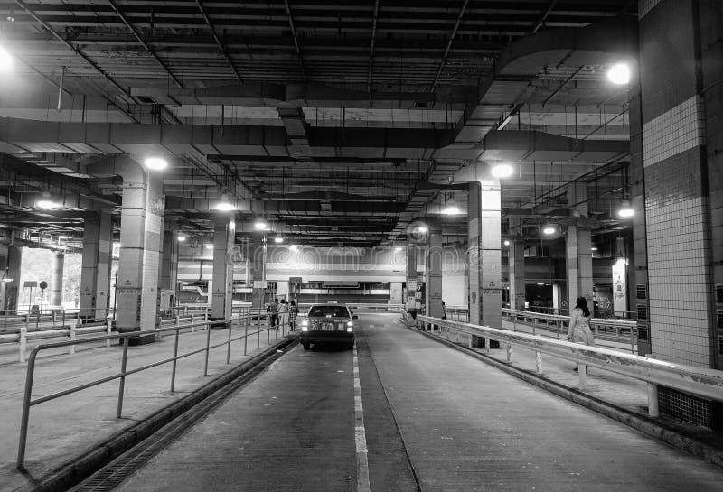 Estación de autobúses subterráneo en Hong Kong imagenes de archivo