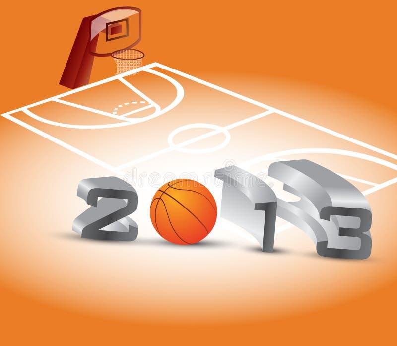 Estación de baloncesto ilustración del vector