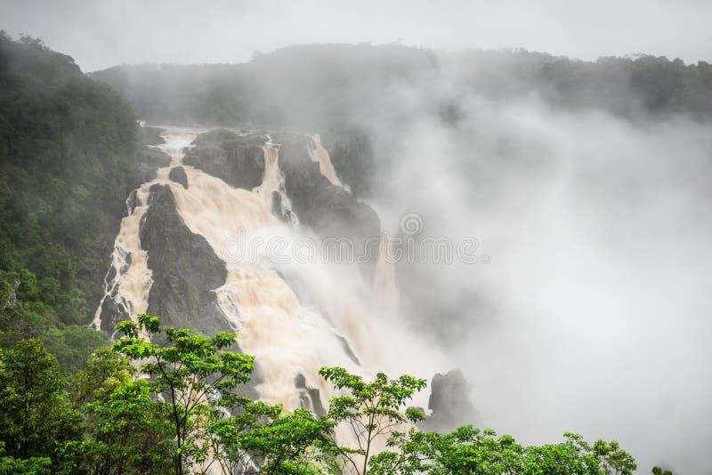 Estación de Barron Falls During The Wet imagen de archivo libre de regalías