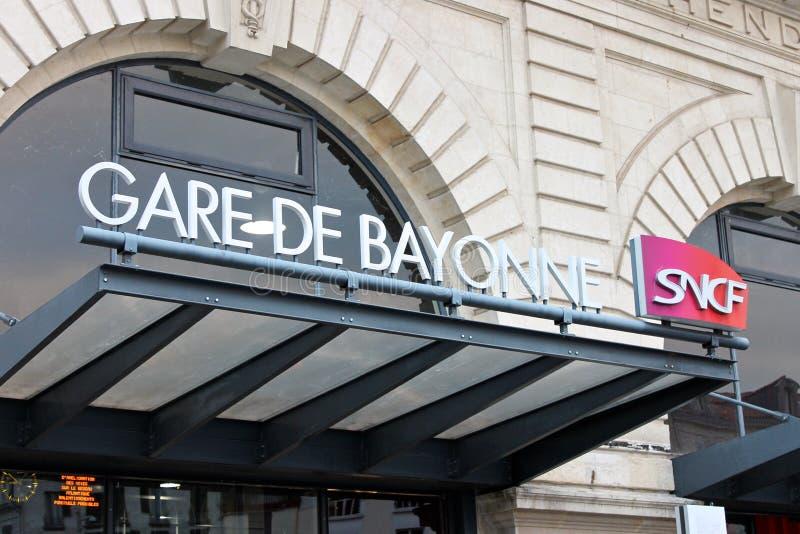 Estación de Bayona, Francia fotografía de archivo