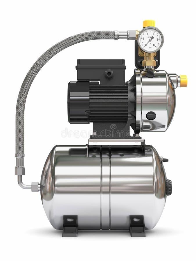 Estación de bomba portátil de agua ilustración del vector