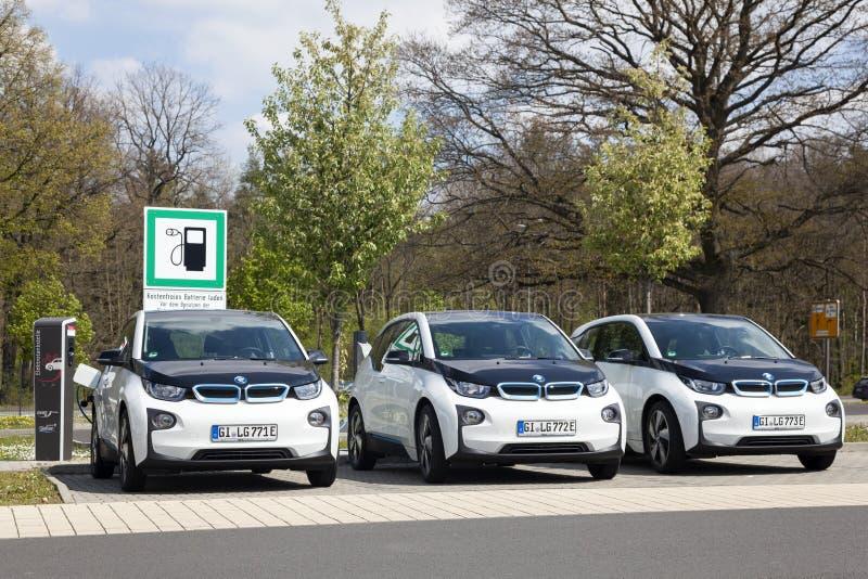 Estación de carga para los vehículos eléctricos imagen de archivo libre de regalías