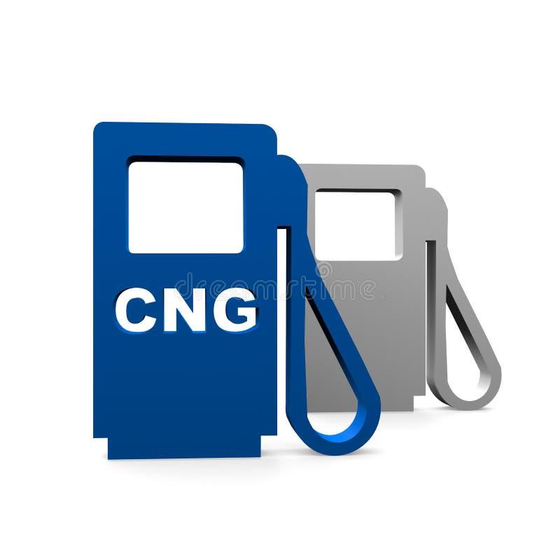 Estación de CNG stock de ilustración