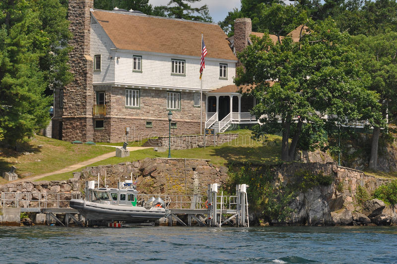 Estación de control de fronteras de los E.E.U.U. de la isla de Wellesley foto de archivo