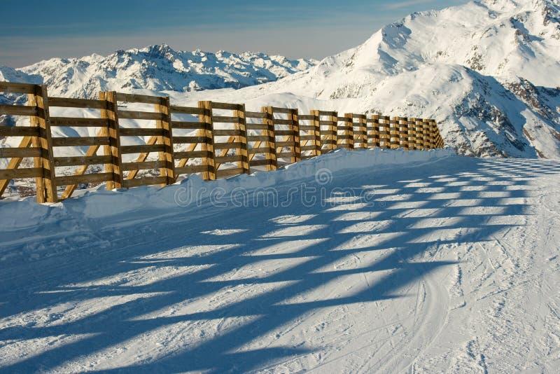 Estación de esquí imagen de archivo libre de regalías